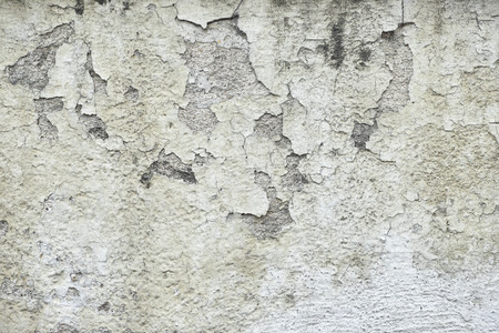Old Peeling White Paint Wall Background