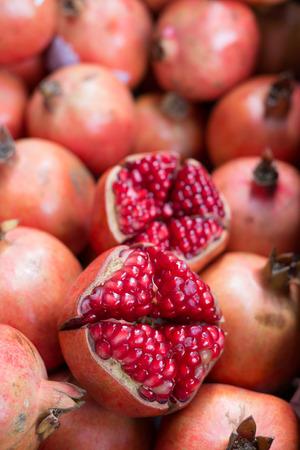 Peeled pomegranate prepared for make pomegranate juice.