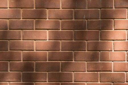 Closed up of brick with shadow use as background