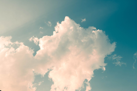 Cumulus cloud in morning background for forecast and meteorology concept Reklamní fotografie