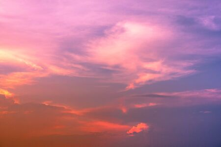 gradient sky and Cumulonimbus  cloud in bright rainbow colors and Colorful smooth sky in sunset 스톡 콘텐츠