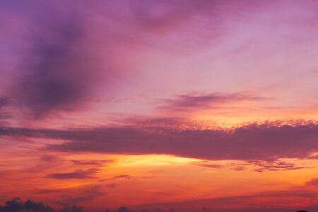 beautiful of Stratus cloud in sunset background for forecast and meteorology concept