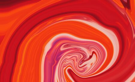 illustration red tone of Liquid Marble.Using for background and wallpaper