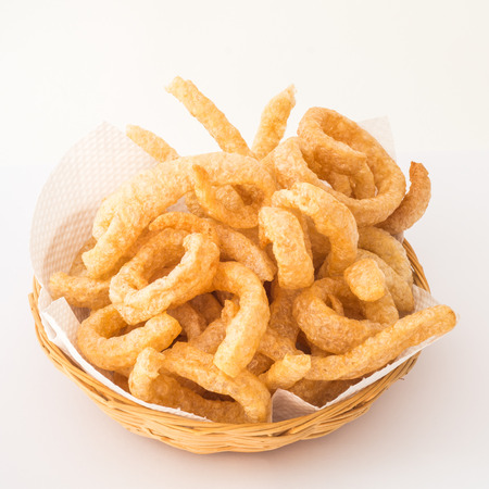rinds: Crispy pork rinds deep fried pork skin