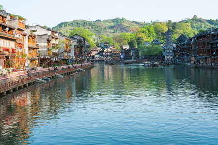 huang: Feng Huang, the most famous ancient town in Hunan province, China. Editorial