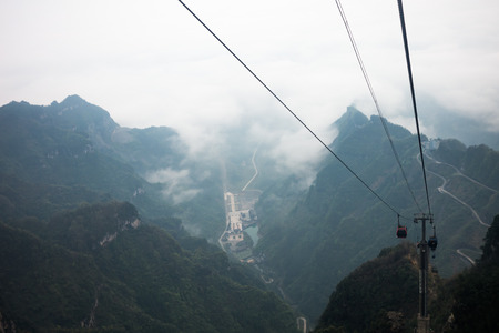 hunan: Cable car ropeway to tianmen mountain zhangjiajie, china