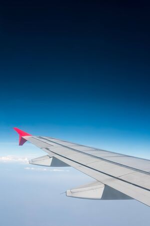airfoil: Wing of airplane from window