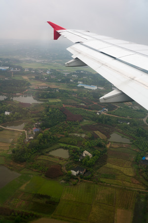 hunan: Hunan, China bird eye view from airplane.