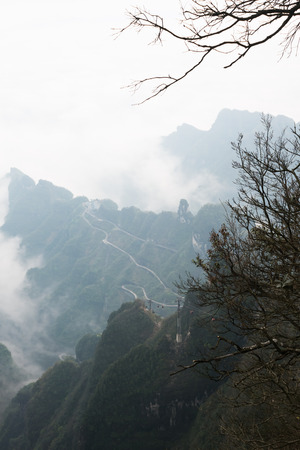 hunan: View point of Tianmen mountain in zhangjiajie, Hunan, china Stock Photo
