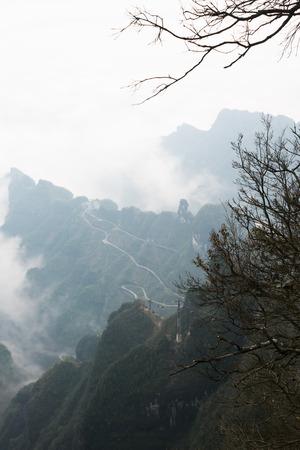 hunan: View point of Tianmen mountain in zhangjiajie, Hunan, china Stock Photo