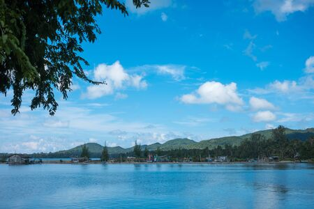 phangan: Landscape of beach and the moutain at Koh Phangan, Thailand Stock Photo
