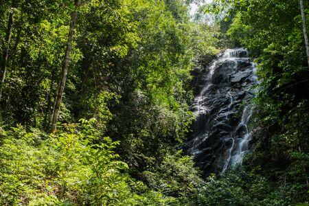 phangan: Phaeng Noi waterfall at Koh Phangan, Suratthani, Thailand Stock Photo