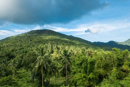 phangan: Beautiful tropical landscape from view point of Koh Phangan, Thailand