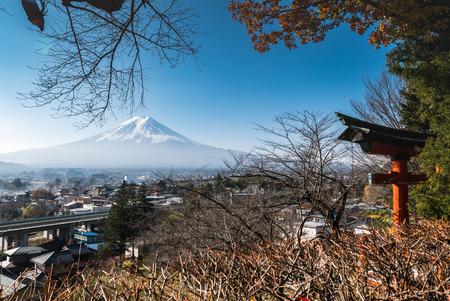 chureito: Fuji mountain view from Chureito Pagoda in autumn. Editorial