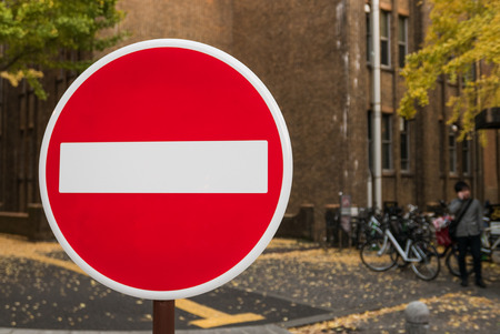 abbreviated: TOKYO, JAPAN - DEC 4, 2015: Stop sign in The University of Tokyo, abbreviated as Todai, is a research university located in Bunkyo, Tokyo, Japan. It is the first of Japans National Seven Universities.