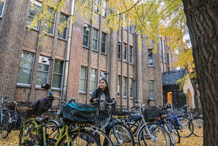 abbreviated: TOKYO, JAPAN - DEC 4, 2015: The University of Tokyo, abbreviated as Todai, is a research university located in Bunkyo, Tokyo, Japan. It is the first of Japans National Seven Universities. Editorial