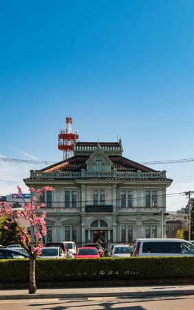 Aomori, Japan - April 30, 2016: Building in Hirosaki city near to Hirosaki castle in Aomori, Japan Editorial