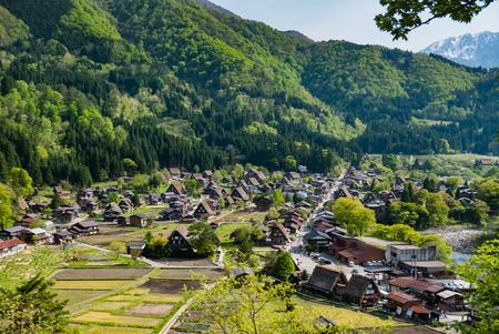 Shirakawa-go, Japan - May 2, 2016: Historical village of Shirakawa-go. Shirakawa-go is one of Japans UNESCO World Heritage Sites located in Gifu Prefecture, Japan. Stock Photo