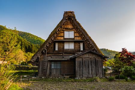 shirakawa go: Shirakawa-go, Japan - May 2, 2016: Traditional gassho-zukuri house in Shirakawa-go. Shirakawa-go is one of Japans UNESCO World Heritage Sites located in Gifu Prefecture, Japan.