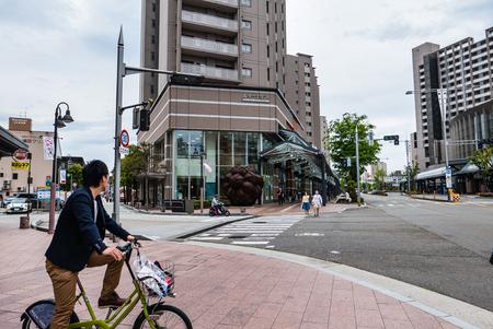 hokuriku: Kanazawa, Japan - May 3, 2016:  Kanawaza city. Kanazawa city is the biggest city in the Hokuriku region, Japan has a population of  450,000
