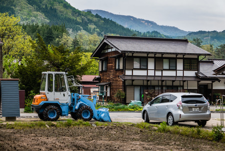 Shirakawa-go, Japan - May 3, 2016: Historical village of Shirakawa-go. Shirakawa-go is one of Japans UNESCO World Heritage Sites located in Gifu Prefecture, Japan. Editorial