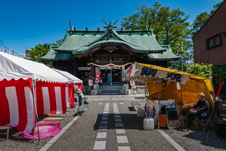 Kanazawa, Japan - May 4, 2016: Shrine in Kanazawa, Ishikawa Prefecture, Japan.