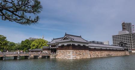 Hiroshima, Japan - May 5, 2016: Hiroshima castle in Hiroshima Prefecture, Chugoku region, Japan. Editorial