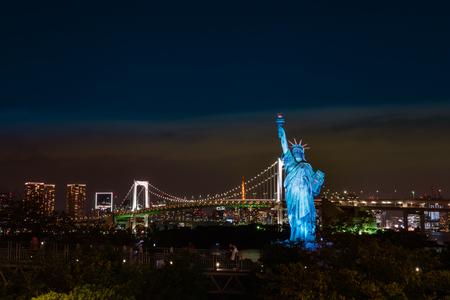 Tokyo, Japan - October 30, 2018: Statue of Liberty in Odaiba area, Tokyo, Japan