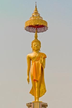 Pie de la estatua de Buda