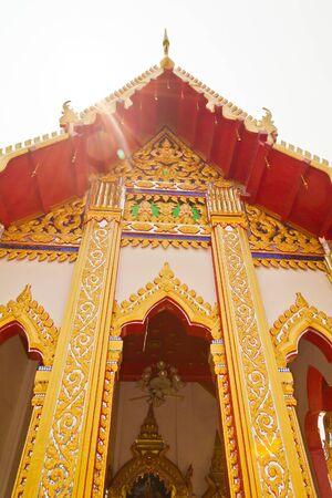 Templo de estilo tailand�s hermosa Foto de archivo