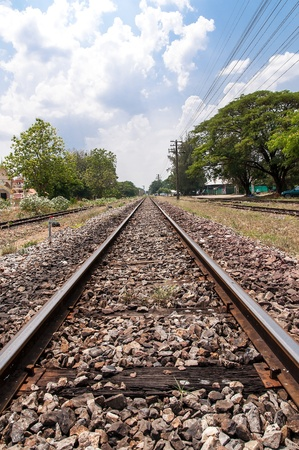 Railway Thailand Stock Photo