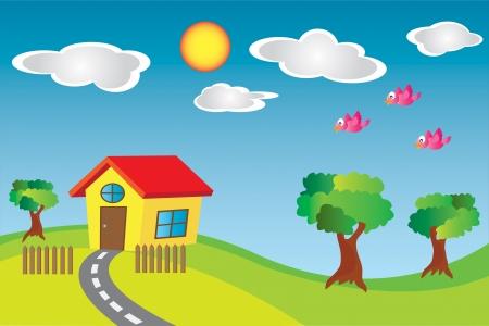 Peque�a Casa en el Pa�s Vectores