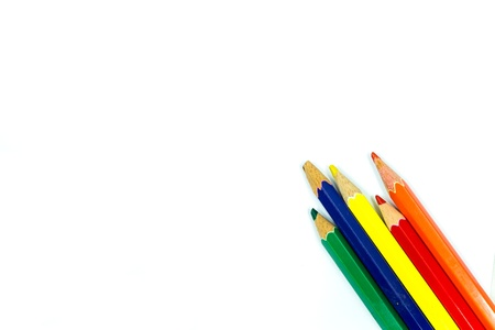 Different colored pencils