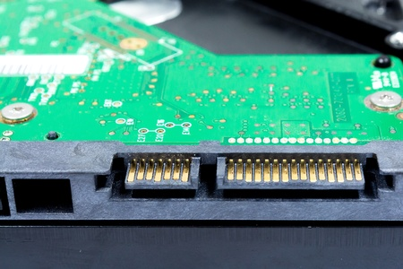 Close up for connecter of Hard disk drive