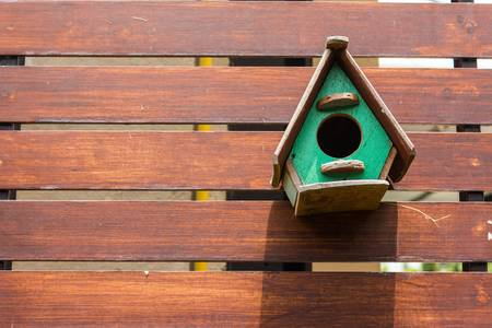 Colorful birdhouse Stock Photo