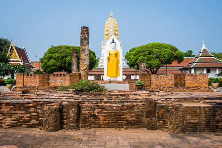 Big buddha statue in Thailand Stock Photo