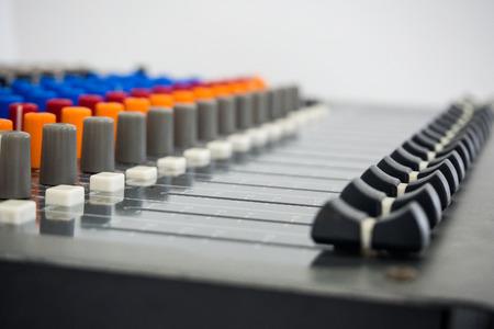 Tarjeta de sonido en estudio