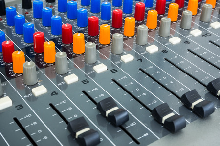 Sound Board In Studio