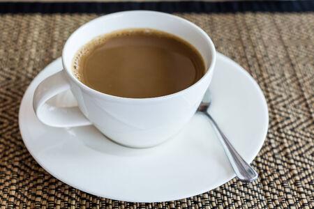 Primer plano de una taza de caf�