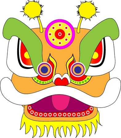 Lion Head Chinese New Year Vector