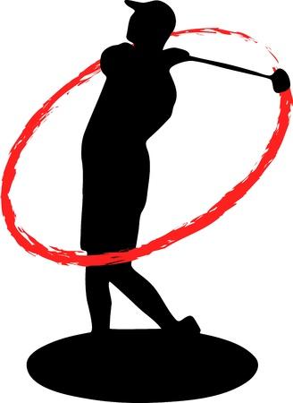 golfing: golfer