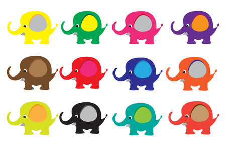 Cute Cartoon Elephants
