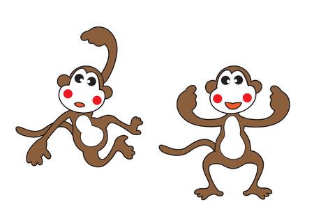 かわいい漫画の猿