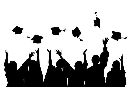 hogescholen: Graduatie dag Stock Illustratie