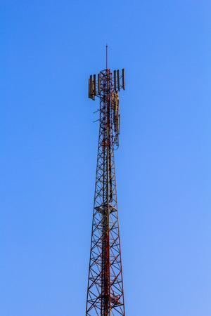 通信タワー 写真素材
