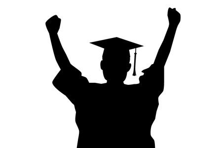 graduacion caricatura: Enhorabuena de la graduación Vectores
