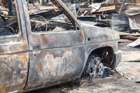 Burnt out car in fire situation insurance matters.