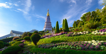 Purple Stupa on Doi Inthanon. Chiang Mai, Thailand