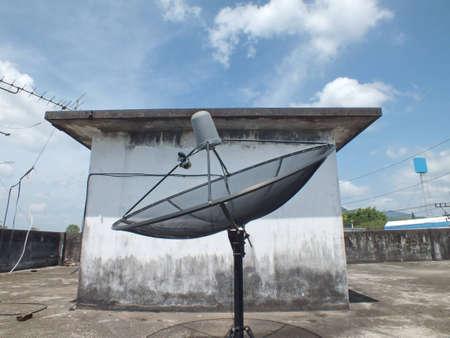 antena parabolica: Antena parab?lica  Foto de archivo