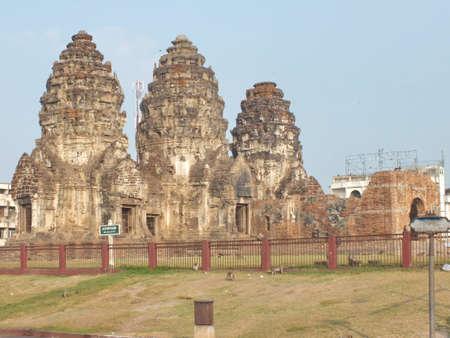 take a history: Prang Sam Yot Stock Photo